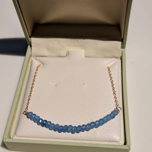 Jewelry - 14k gold filled blue chalcedony necklace